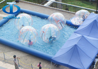 water ball inflatable pool,children playing water ball on